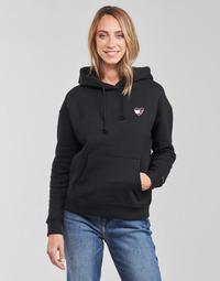 Oblačila Ženske Puloverji Tommy Jeans TJW BXY HOMESPUN HEART HOODIE Črna