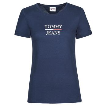 Oblačila Ženske Majice s kratkimi rokavi Tommy Jeans TJW SKINNY ESSENTIAL TOMMY T SS Modra