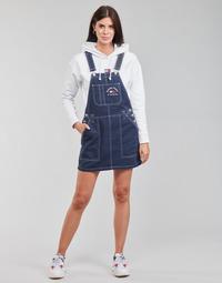 Oblačila Ženske Kombinezoni Tommy Jeans TJW TIMELESS DUNGAREE DRESS Modra