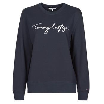 Oblačila Ženske Puloverji Tommy Hilfiger REGULAR GRAPHIC C-NK SWEATSHIRT Modra