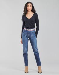 Oblačila Ženske Jeans straight Tommy Hilfiger NEW CLASSIC STRAIGHT HW A LEA Modra
