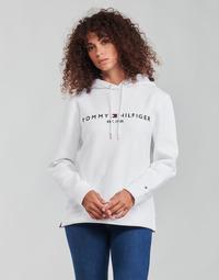 Oblačila Ženske Puloverji Tommy Hilfiger HERITAGE HILFIGER HOODIE LS Bela