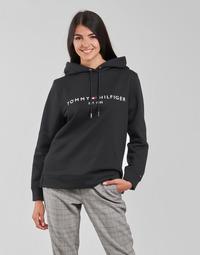 Oblačila Ženske Puloverji Tommy Hilfiger HERITAGE HILFIGER HOODIE LS Črna