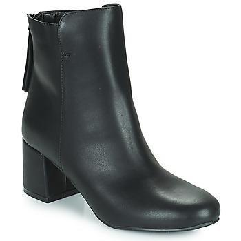 Čevlji  Ženske Gležnjarji The Divine Factory LH2268 Črna