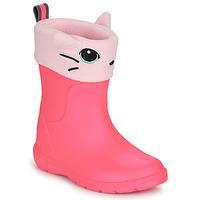 Čevlji  Deklice škornji za dež  Isotoner 99314 Rožnata