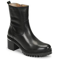 Čevlji  Ženske Gležnjarji Wonders H-3932 Črna