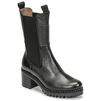 Čevlji  Ženske Gležnjarji Wonders H-3930 Črna