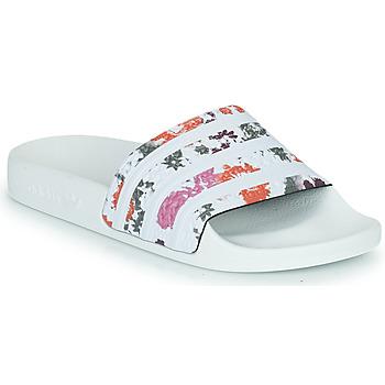 Čevlji  Ženske Natikači adidas Originals ADILETTE W Bela / Květinová