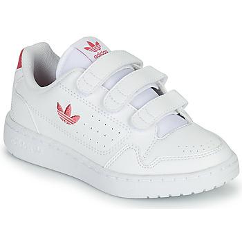 Čevlji  Deklice Nizke superge adidas Originals NY 90  CF C Bela / Rožnata
