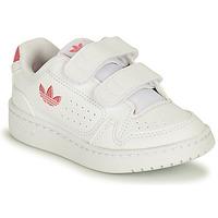Čevlji  Deklice Nizke superge adidas Originals NY 90 CF I Bela / Rožnata