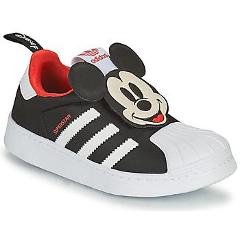 Čevlji  Dečki Nizke superge adidas Originals SUPERSTAR 360 C Črna / Mickey