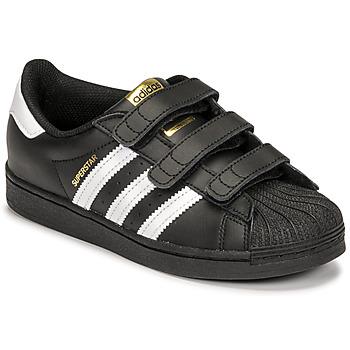 Čevlji  Otroci Nizke superge adidas Originals SUPERSTAR CF C Črna / Bela