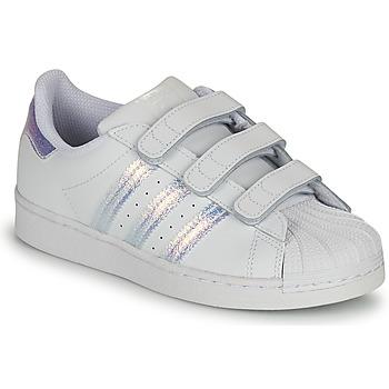 Čevlji  Otroci Nizke superge adidas Originals SUPERSTAR CF C Bela / Srebrna