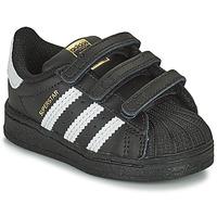 Čevlji  Otroci Nizke superge adidas Originals SUPERSTAR CF I Črna / Bela