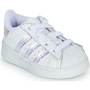 Čevlji  Deklice Nizke superge adidas Originals SUPERSTAR EL I Bela
