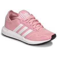 Čevlji  Deklice Nizke superge adidas Originals SWIFT RUN X J Rožnata / Bela