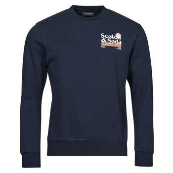 Oblačila Moški Puloverji Scotch & Soda LOGO ARTWORK MELANGE FELPA Modra