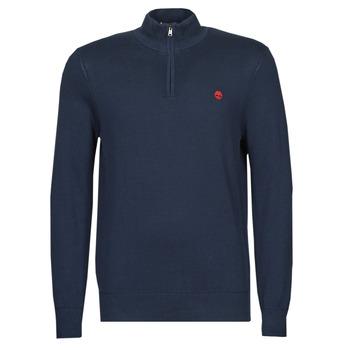 Oblačila Moški Puloverji Timberland LS WILLIAMS RIVER 1/4 ZIP Modra