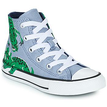 Čevlji  Otroci Visoke superge Converse CHUCK TAYLOR ALL STAR DINO DAZE HI Modra / Zelena