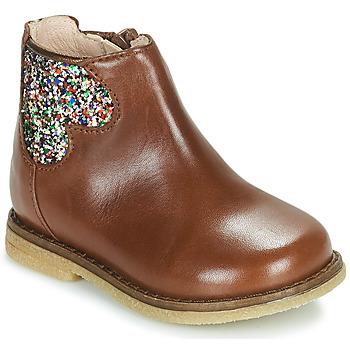 Čevlji  Deklice Polškornji Acebo's 3202-CUERO-C Kostanjeva