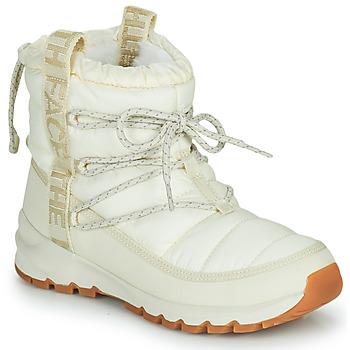 Čevlji  Ženske Škornji za sneg The North Face W THERMOBALL LACE UP Kremno bela