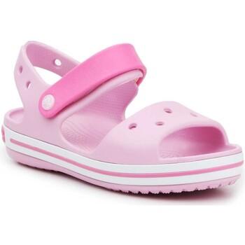Čevlji  Deklice Sandali & Odprti čevlji Crocs Crocband Sandal Kids12856-6GD pink