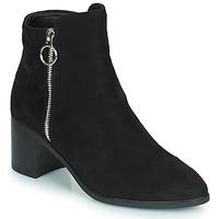 Čevlji  Ženske Mestni škornji    Moony Mood PETROLIA Črna