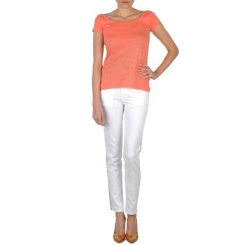 Oblačila Ženske Kavbojke slim Calvin Klein Jeans JEAN BLANC BORDURE ARGENTEE Bela