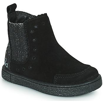 Čevlji  Deklice Polškornji Mod'8 BLANOU Črna / Bleščeča