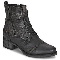 Čevlji  Ženske Polškornji Mustang 1229508 Črna