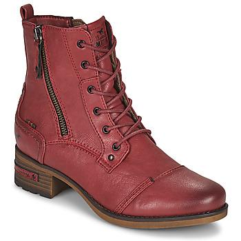 Čevlji  Ženske Polškornji Mustang 1229513 Rdeča