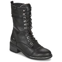 Čevlji  Ženske Mestni škornji    Mustang 1402501 Črna