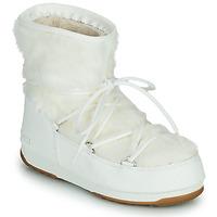 Čevlji  Ženske Škornji za sneg Moon Boot MOON BOOT MONACO LOW FUR WP 2 Bela