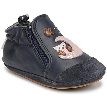 Čevlji  Deklice Nogavice za dojenčke Robeez NICE OWL Modra