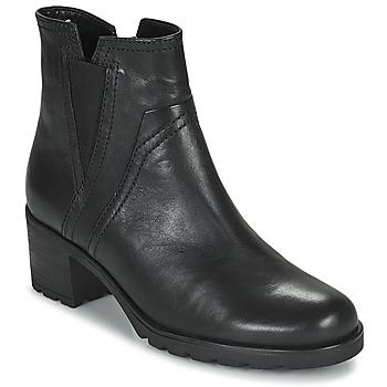 Čevlji  Ženske Gležnjarji Gabor 7280417 Črna