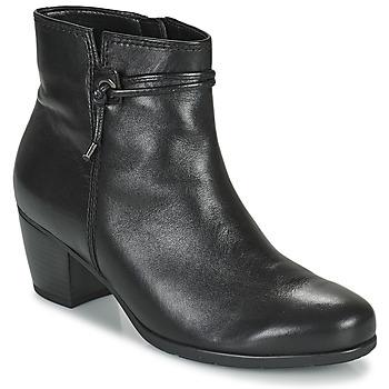 Čevlji  Ženske Gležnjarji Gabor 7552227 Črna