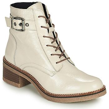 Čevlji  Ženske Gležnjarji Dorking LUCERO Kremno bela