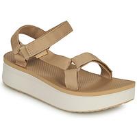 Čevlji  Ženske Sandali & Odprti čevlji Teva Flatform Universal Bež / Bela