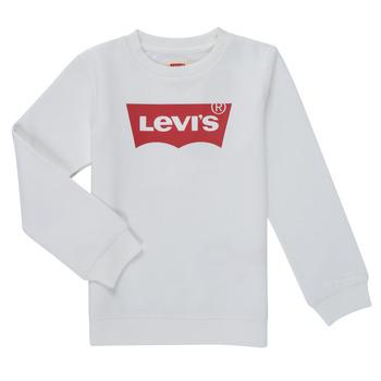 Oblačila Dečki Puloverji Levi's BATWING CREWNECK SWEATSHIRT Bela