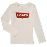 Oblačila Deklice Majice z dolgimi rokavi Levi's LS BATWING TEE Bela