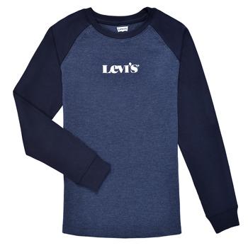 Oblačila Dečki Majice z dolgimi rokavi Levi's LONG SLV WAFFLE TEE SHIRT Modra