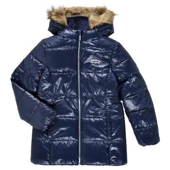 Oblačila Deklice Puhovke Levi's FUR PUFFER Modra