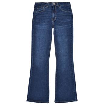 Oblačila Deklice Kavbojke bootcut Levi's HIGHRISECROPFLARE Modra