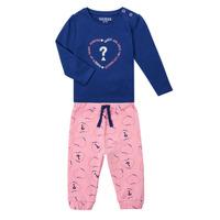 Oblačila Deklice Otroški kompleti Guess ANISSA Rožnata / Modra