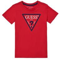 Oblačila Dečki Majice s kratkimi rokavi Guess THOLMA Rdeča