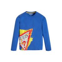 Oblačila Dečki Majice z dolgimi rokavi Guess LISTIN Modra