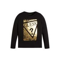 Oblačila Deklice Majice z dolgimi rokavi Guess UPSET Črna