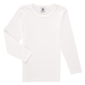 Oblačila Dečki Majice z dolgimi rokavi Petit Bateau KELOMA Bela