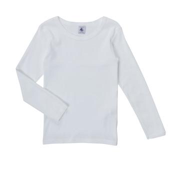Oblačila Deklice Majice z dolgimi rokavi Petit Bateau FATRE Bela