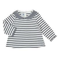 Oblačila Deklice Majice z dolgimi rokavi Petit Bateau HOLINU Bela / Modra